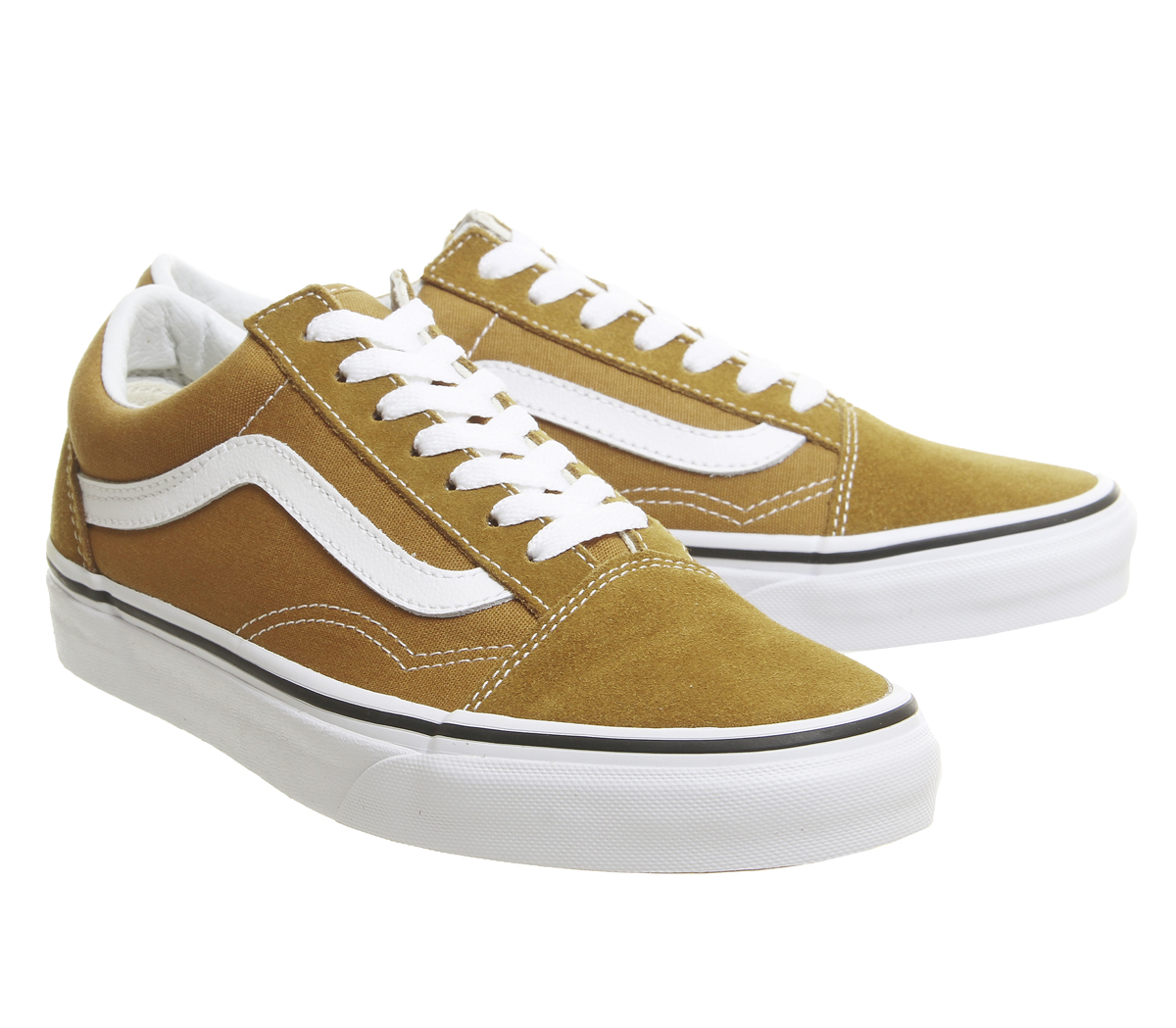 2525bf03e Mens Vans Old Skool Trainers Cumin True White Trainers Shoes