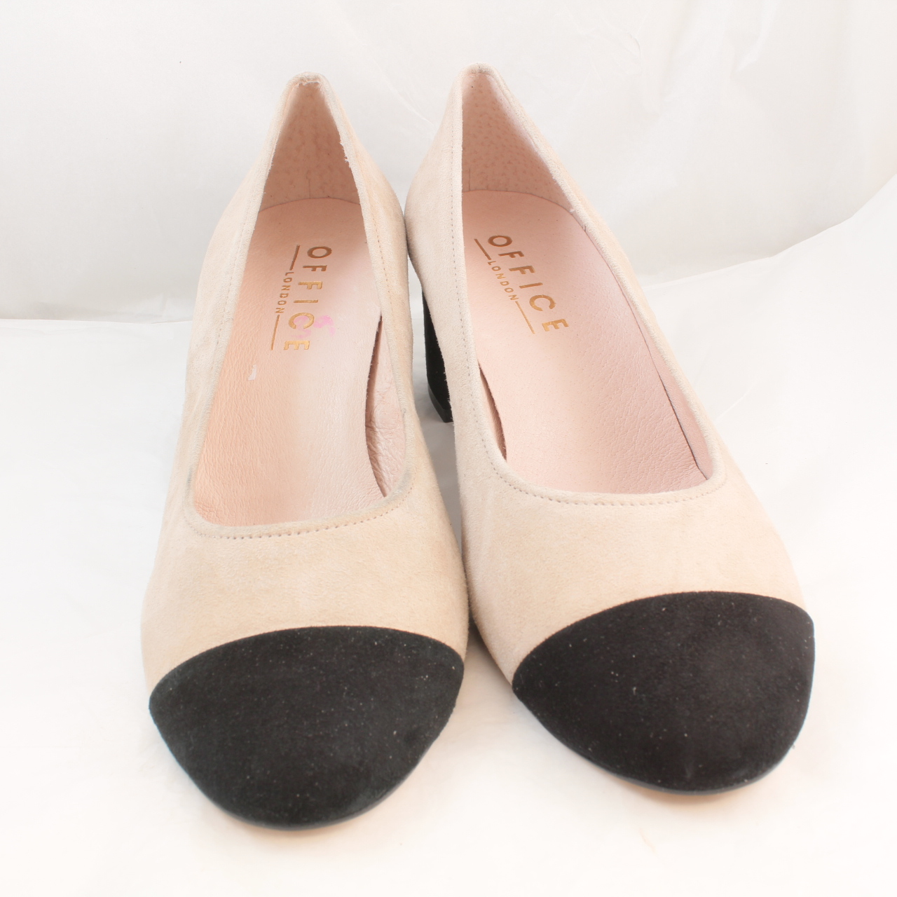 7379a1b269b Sentinel Womens Office Natural Suede Slip On Mid Heels Size UK 4  Ex-Display