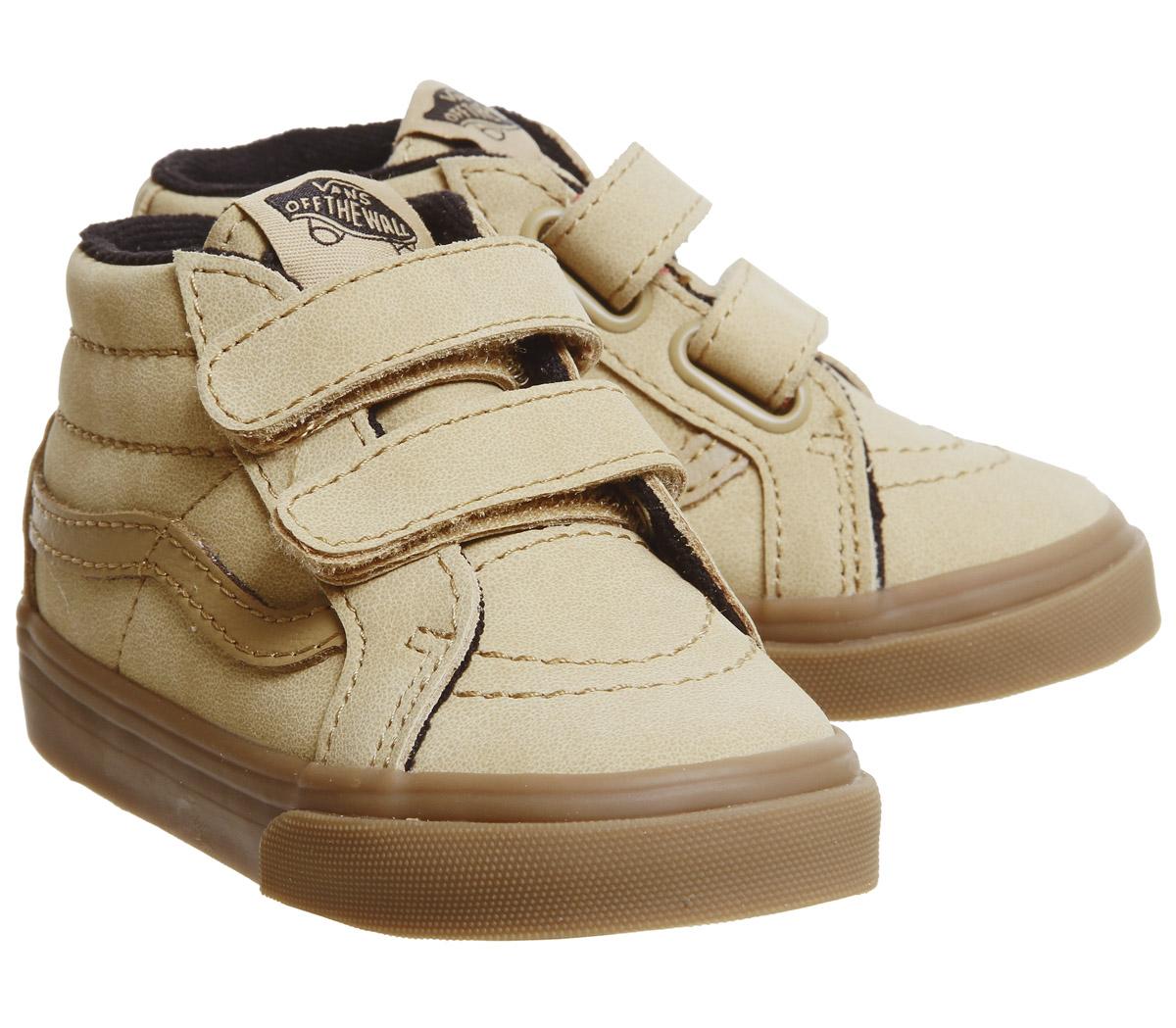 2ba89124e3bb Kids Vans Sk8 Mid Reissue Toddler Trainers Vansbuck Apple Cinnamon ...