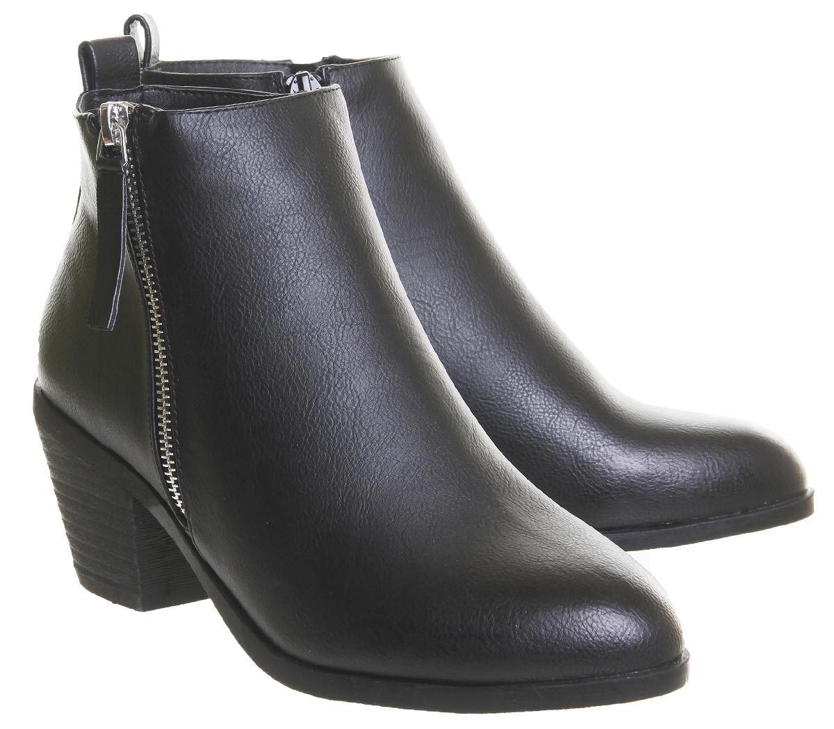 Black Womens Western Office Boots Zip Anita Side Mid rqgxqC0w