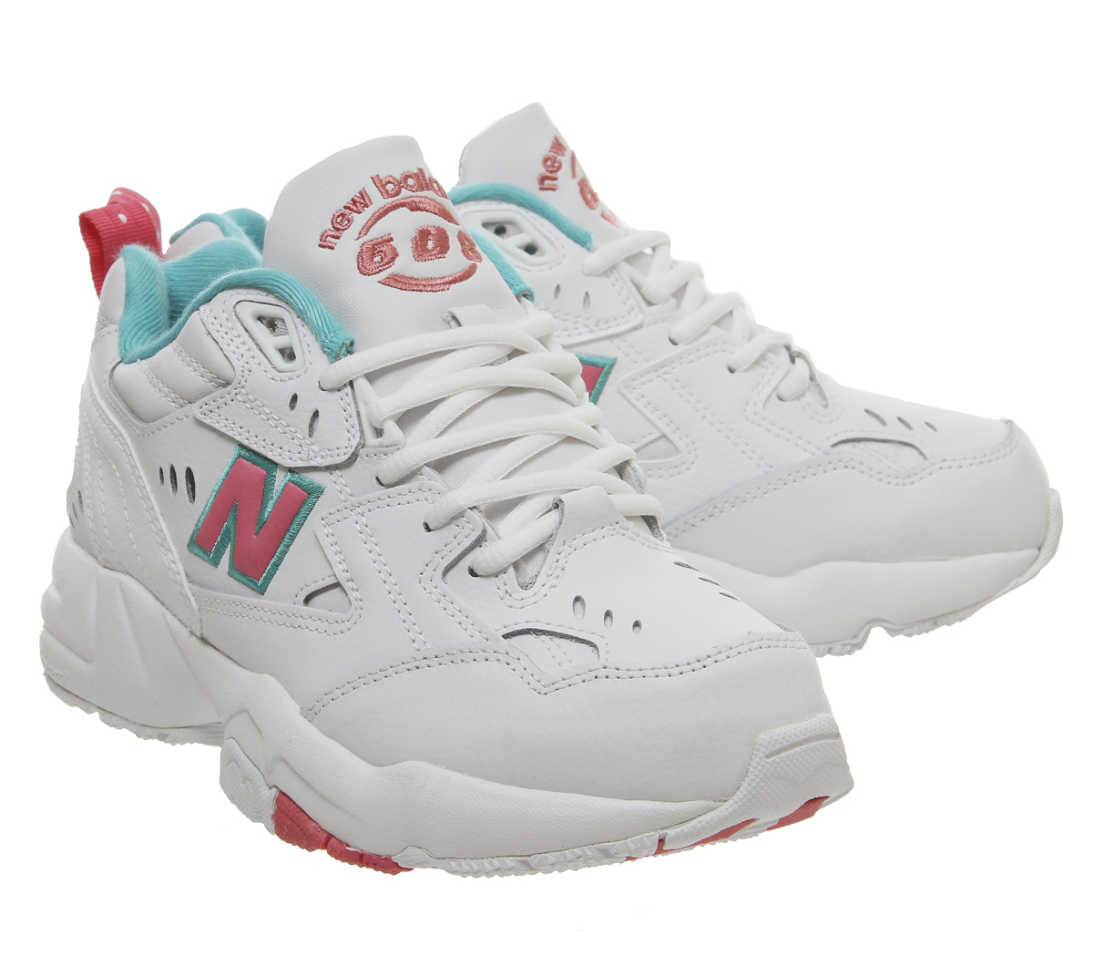 meilleure sélection 80102 d566f Details about Womens New Balance 608 Trainers White Pink Green Trainers  Shoes