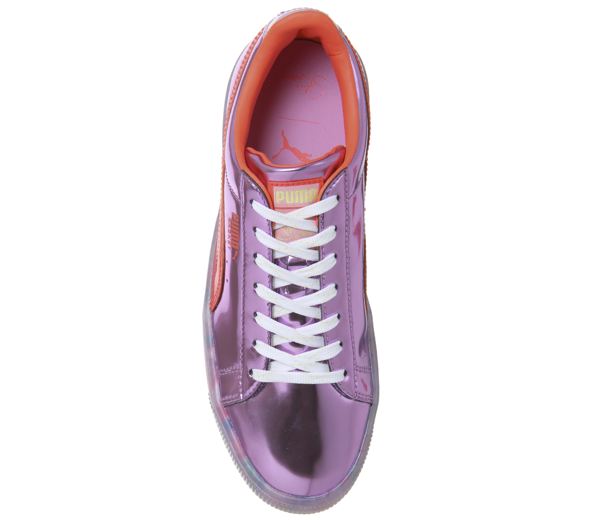 a39864473f5 Womens Puma Basket Candy Princess Trainers Sw Metallic Pink Firey ...