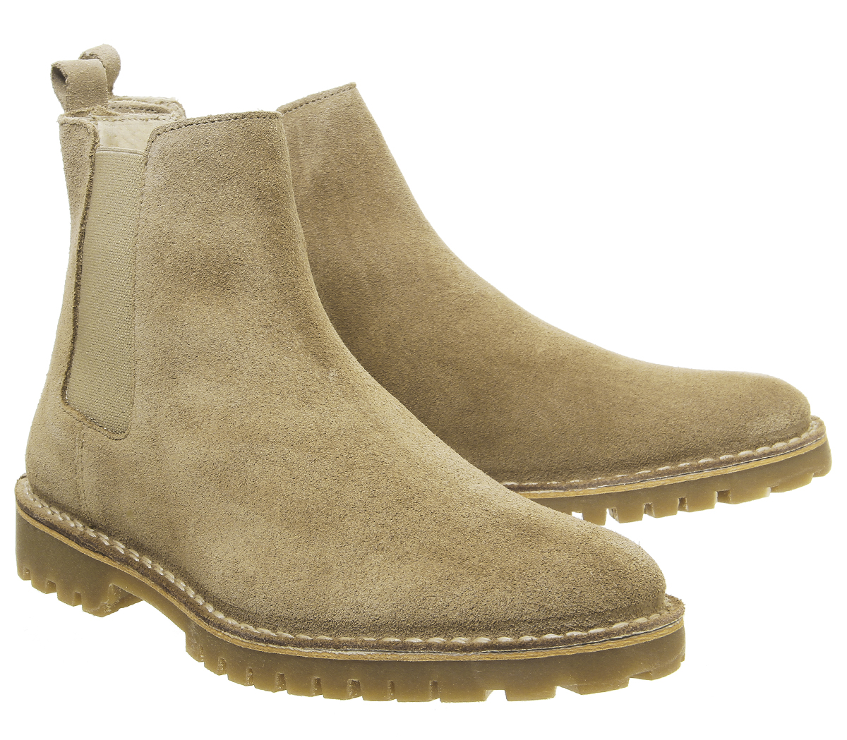 Mens-Office-Impala-Chelsea-Boots-Beige-Suede-Boots thumbnail 13