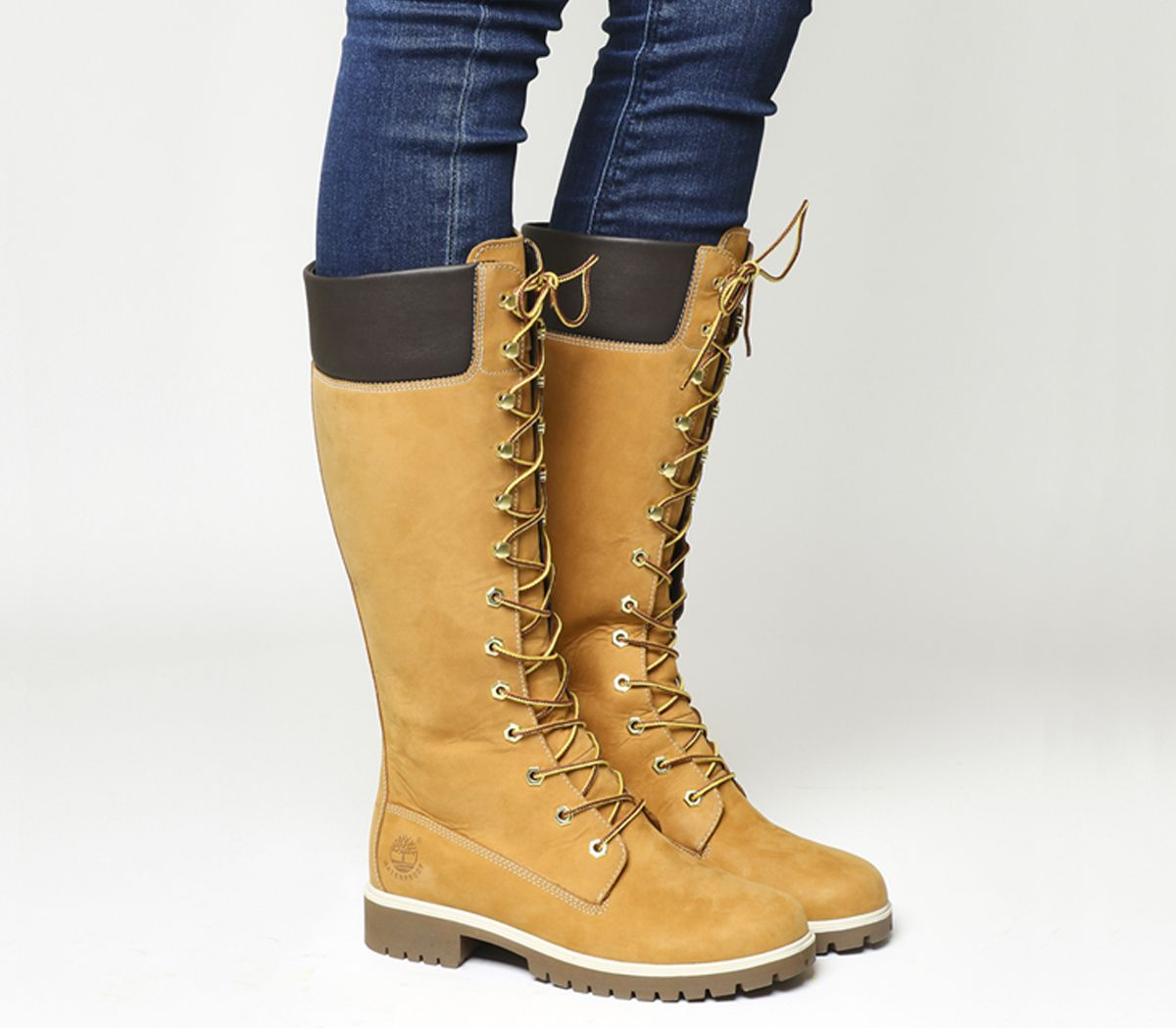 Dettagli su Donna timberland 35.6cm Premium Stivali Grano Stivali