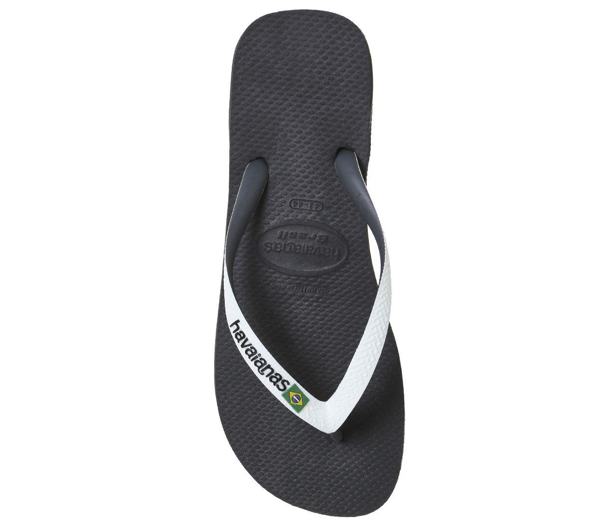 ffa2572cf Mens-Havaianas-Brasil-Mix-Black-White-Sandals thumbnail 12