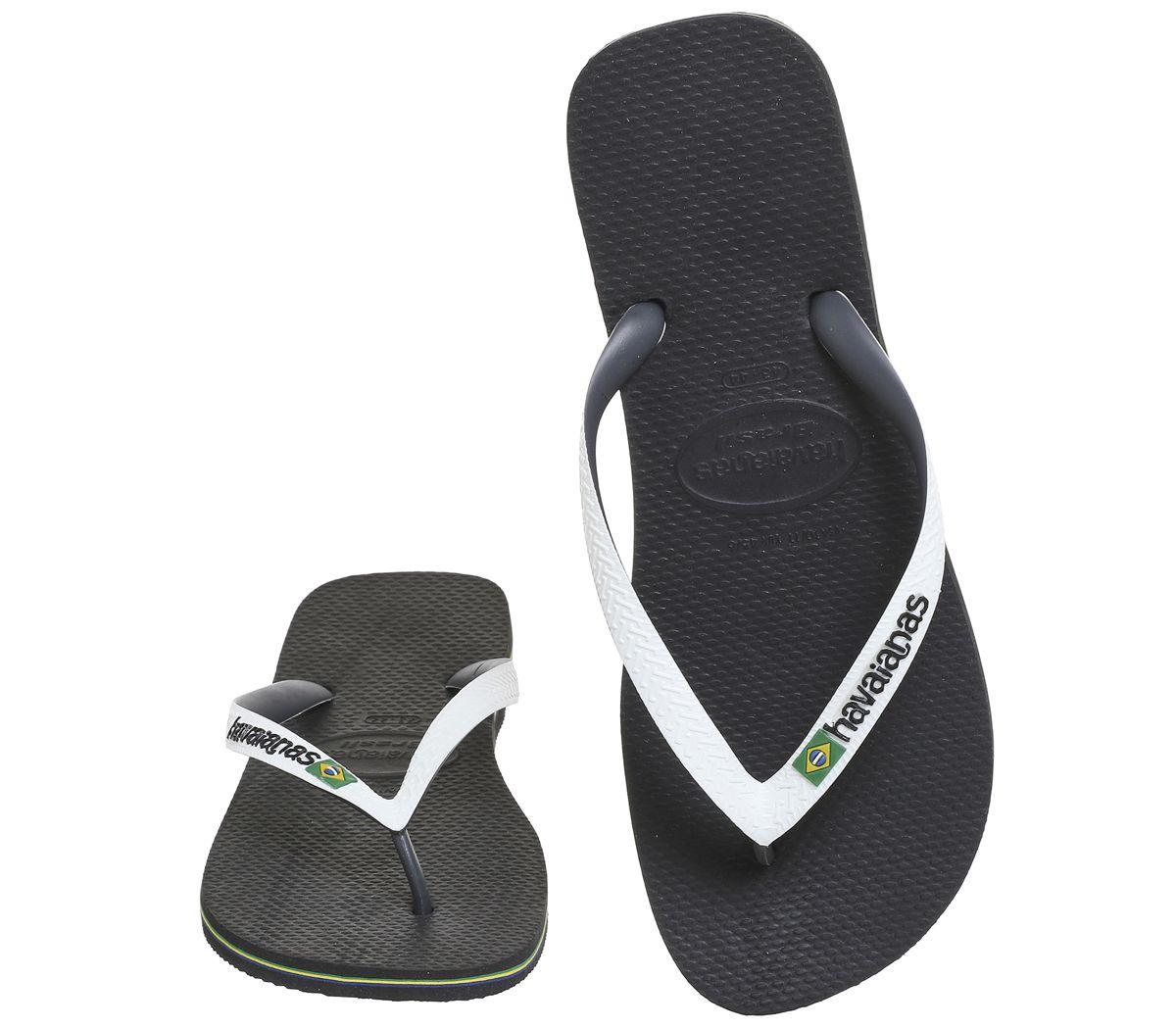 1bef36928 Mens-Havaianas-Brasil-Mix-Black-White-Sandals thumbnail 19