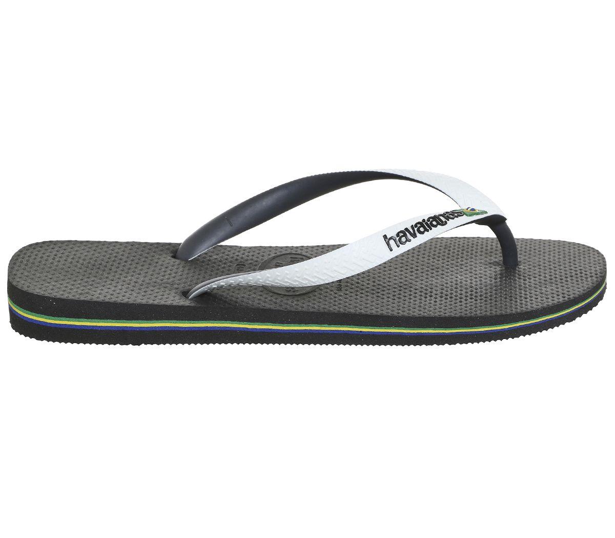 10517e174 Mens-Havaianas-Brasil-Mix-Black-White-Sandals thumbnail 15