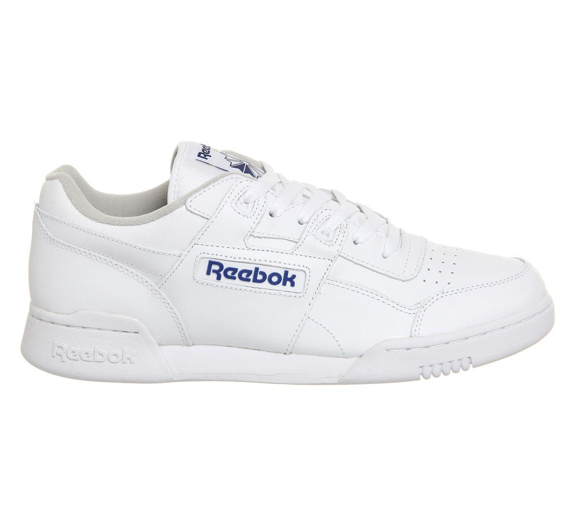 Reebok-Workout-Plus-Blanc-Royal-Baskets-Chaussures miniature 4