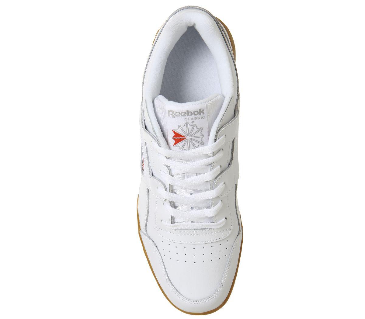 Reebok Entraînement Plus Chaussures blanches Carbone gomme Baskets UK 4