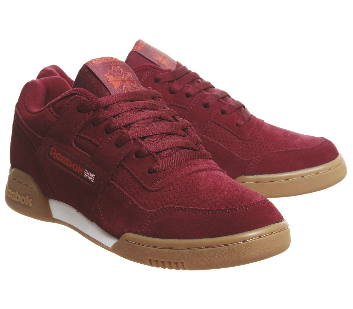 4d0b08ac276 Sentinel Reebok Workout Plus Trainers Collegiate Burgundy White Gum  Trainers Shoes