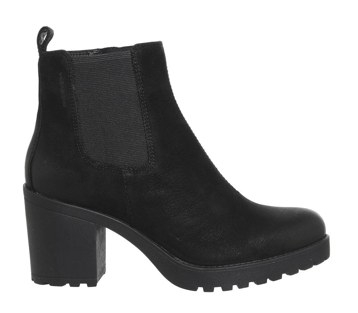 f30391729 Sentinel Womens Vagabond Grace Heeled Chelsea Boots Black Nubuck Boots