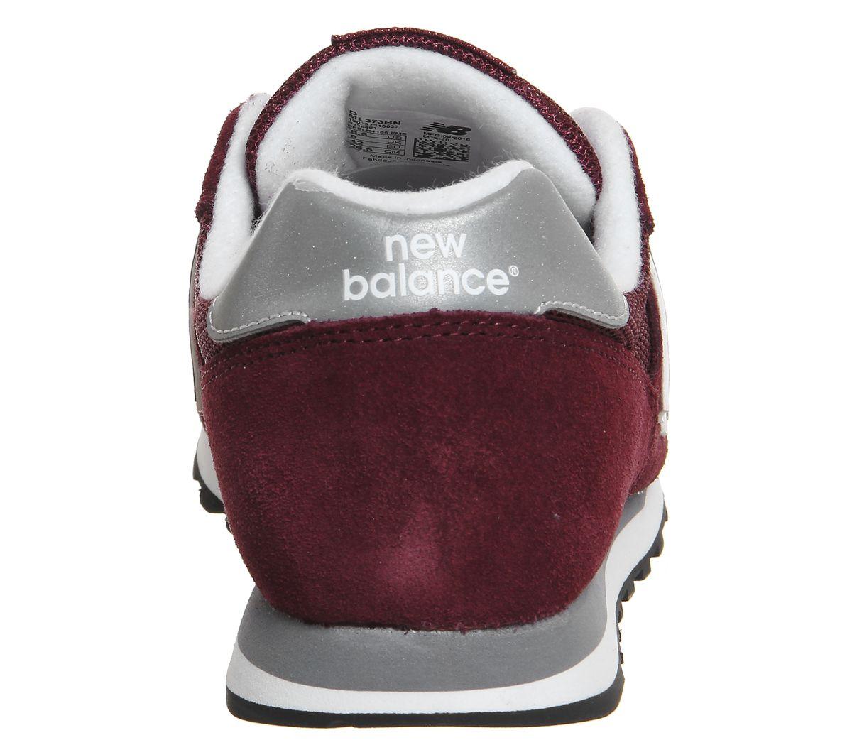 Hommes-New-Balance-373-Bordeaux-Argent-Baskets miniature 10