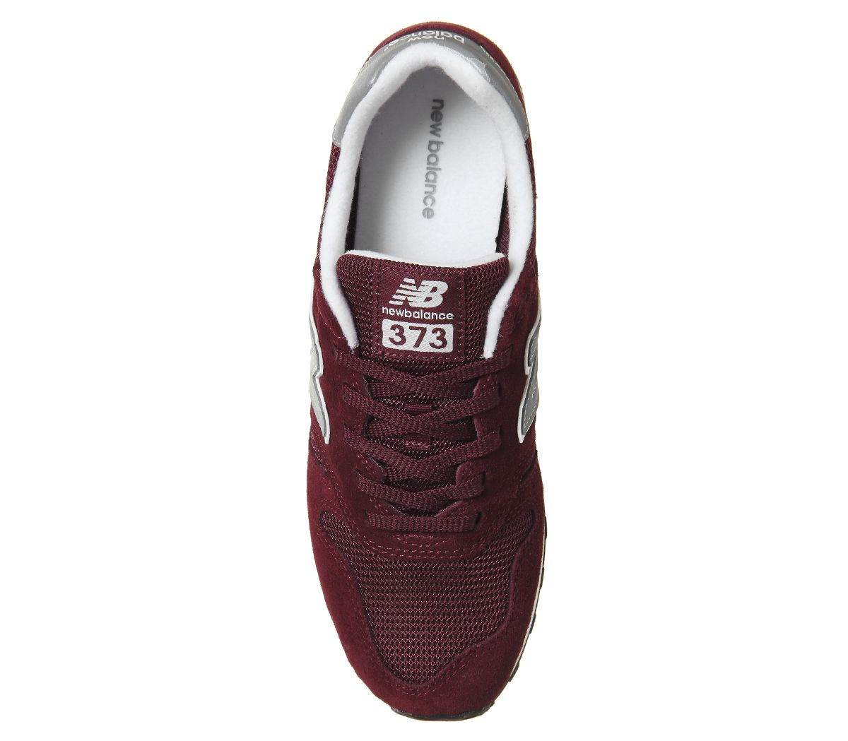 competitive price b5cea 4bcf3 Details about Mens New Balance 373 Burgundy Silver Trainers Shoes