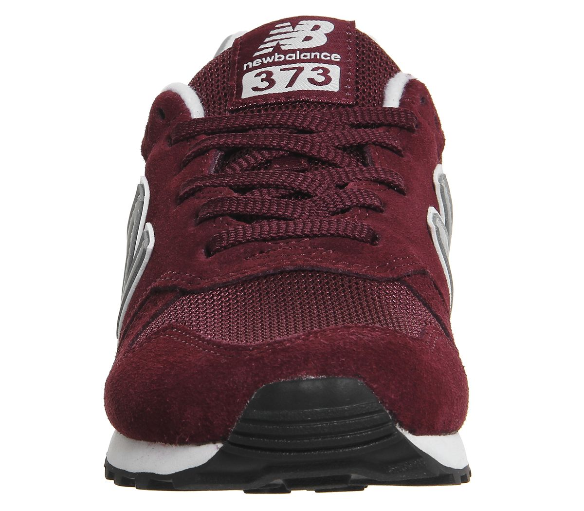MENS NEW BALANCE 373 Burgundy Silver Trainers Shoes EUR 67