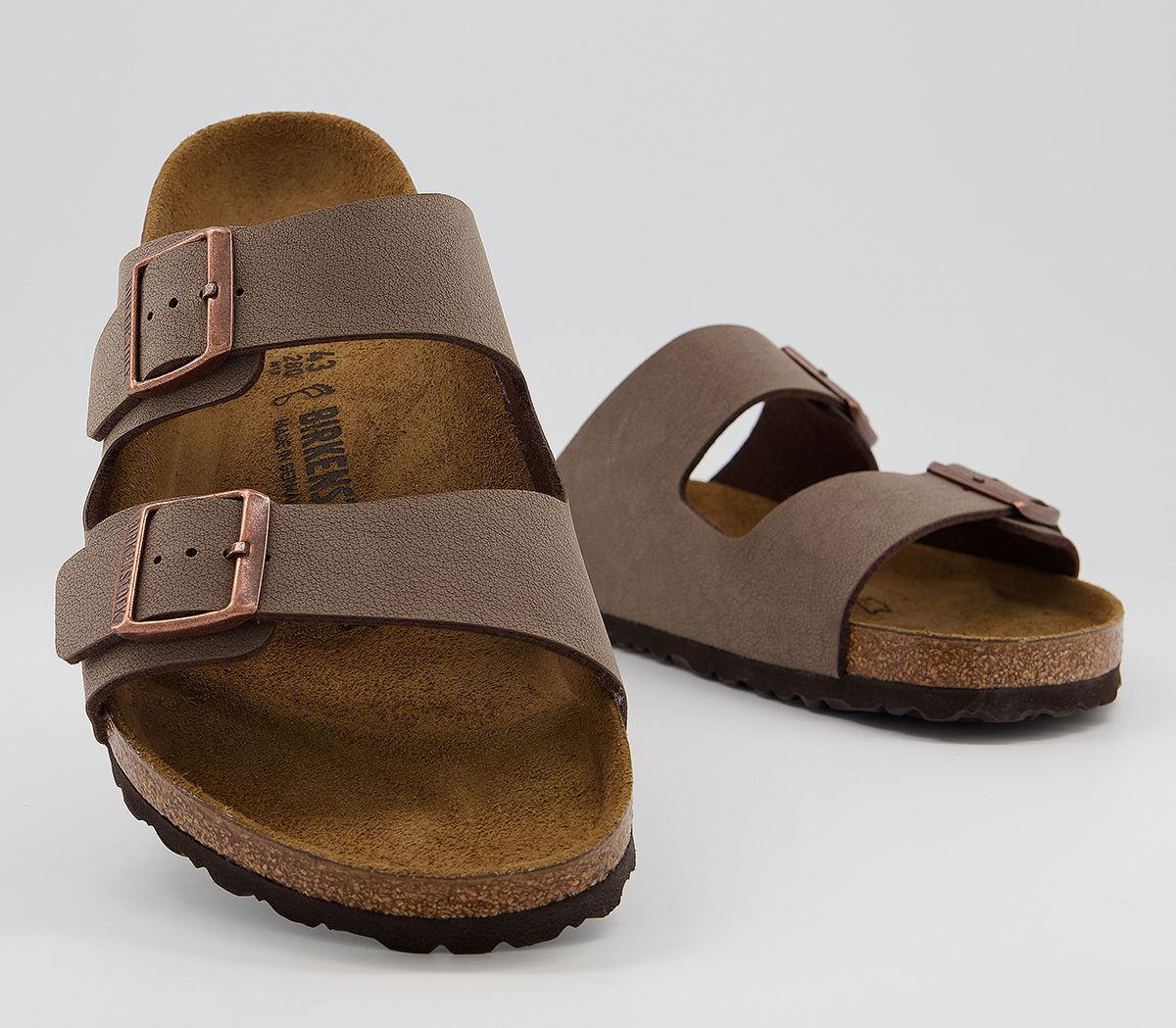 Details about Mens Birkenstock Arizona Two Strap Sandals Mocca Sandals