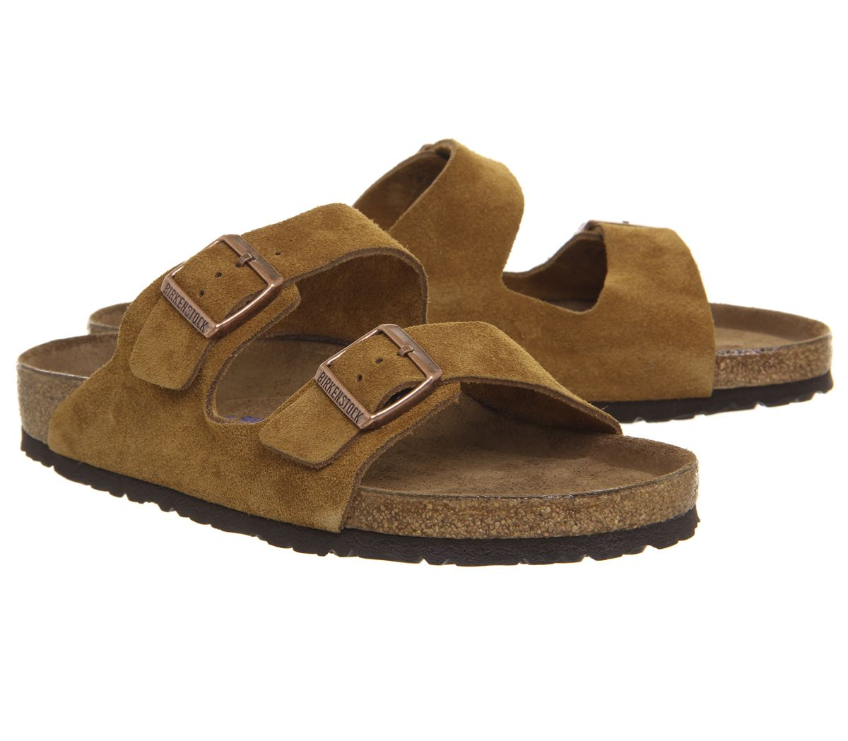 75325af2043a Mens-Birkenstock-Arizona-Two-Strap-Sandals-Mink-Sandals thumbnail