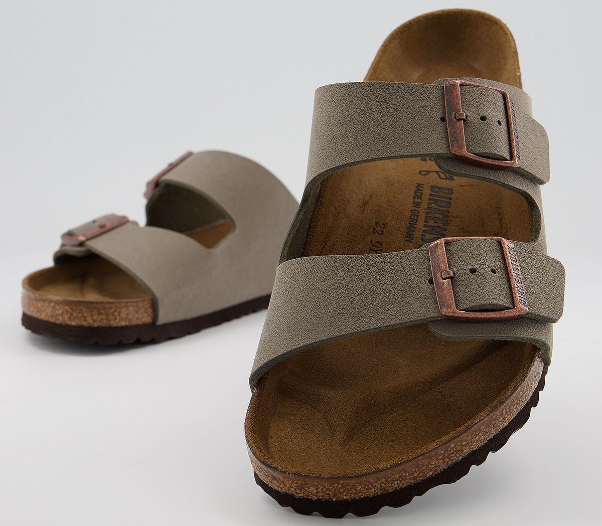 miglior sito web 1d3bf 4341a Dettagli su Uomo Birkenstock Arizona Due Sandali con Cinturino Pietra  Sandali