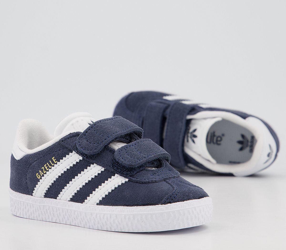 Details zu Kids Adidas Gazelle 2 Infant Trainers Collegiate Navy Kids