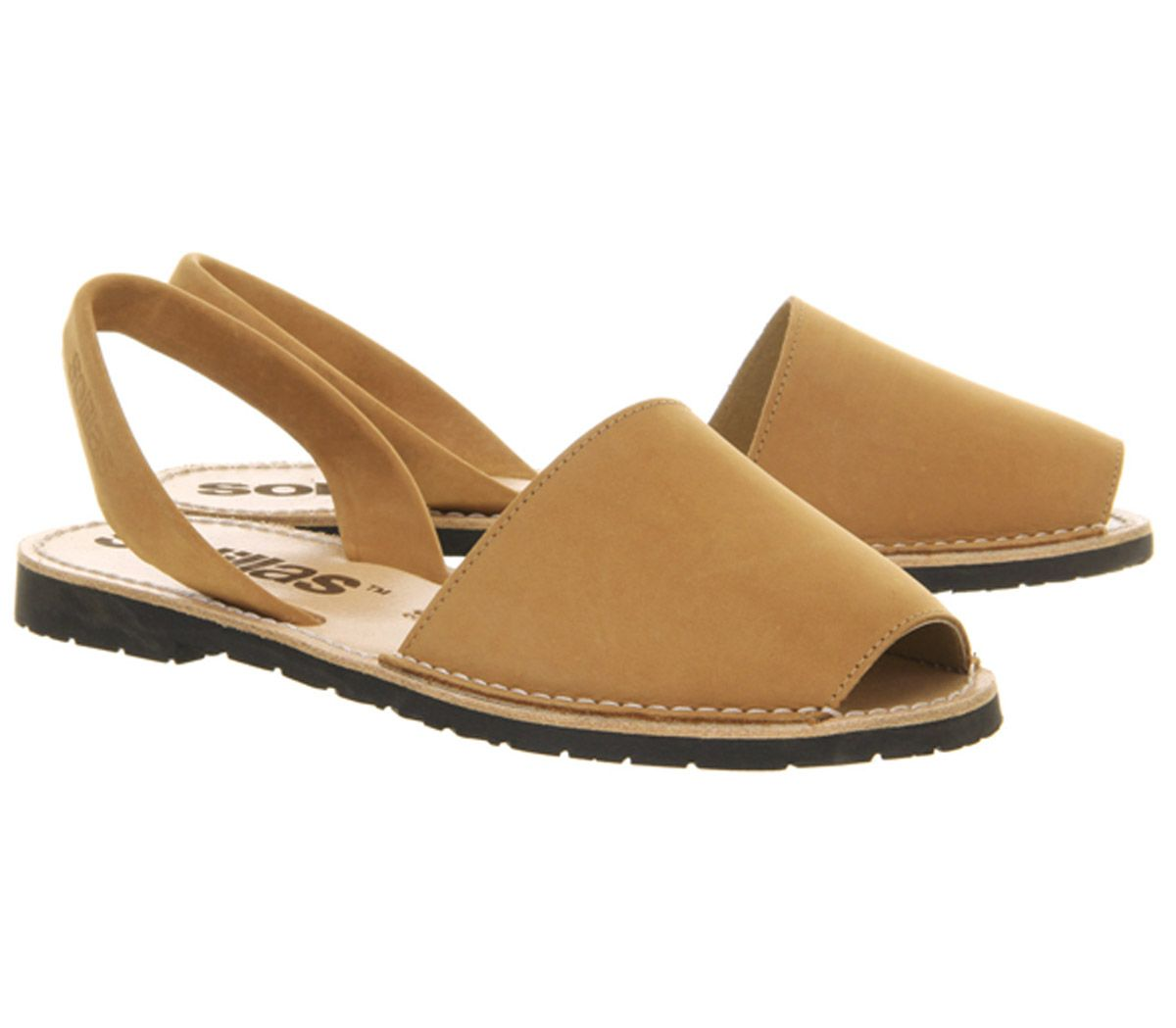 Womens-Solillas-Solillas-Sandals-Tan-Leather-Sandals thumbnail 8