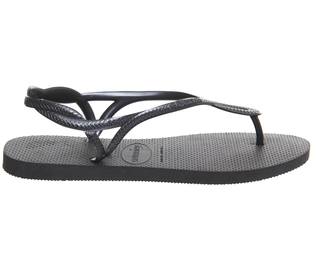 f295e1d83 Womens-Havaianas-Luna-Flip-Flops-Black-Sandals thumbnail 17
