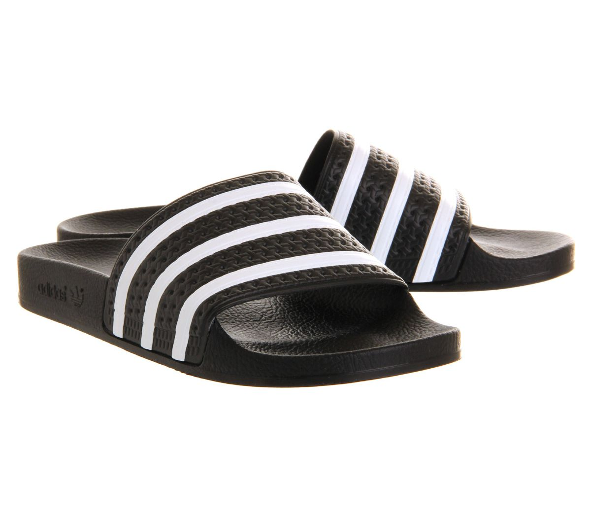 new arrivals 8eac4 6d199 Short-Femme-Adidas-Sandals-Sliders-Noir-Blanc miniature 19