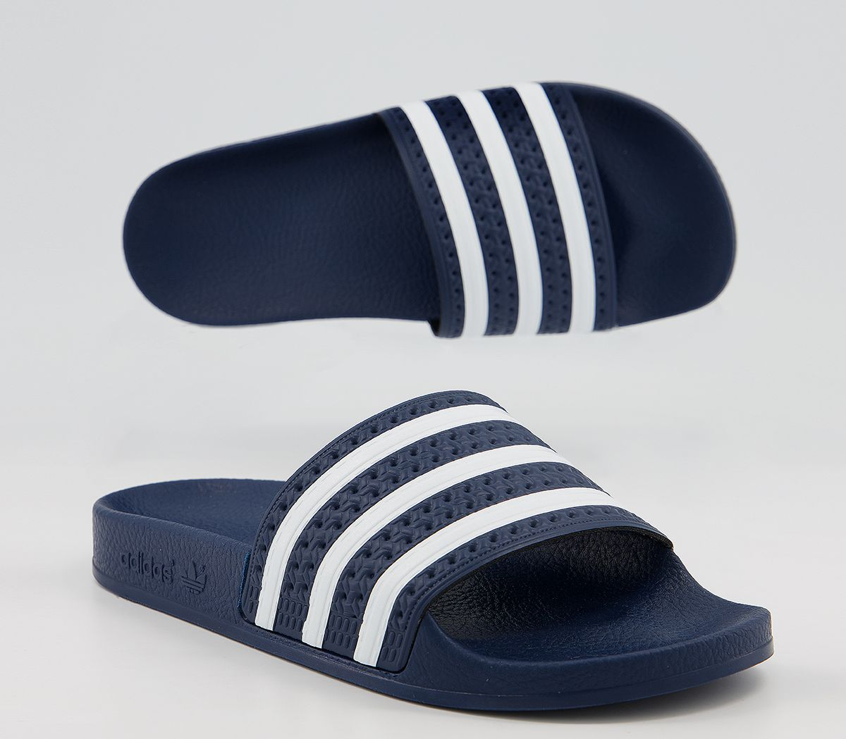 best sneakers 3ea0d 00493 Sentinel Womens Adidas Adilette Sliders Navy White Sandals