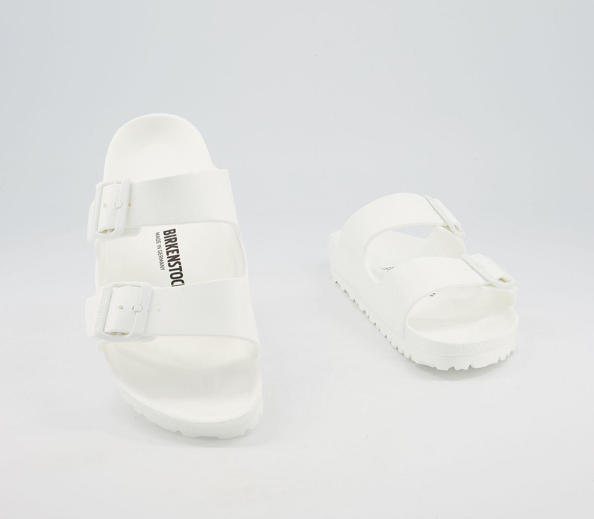 8bc1b2e27cdcfe Womens Birkenstock Arizona Two Strap Sandals White Eva Sandals | eBay