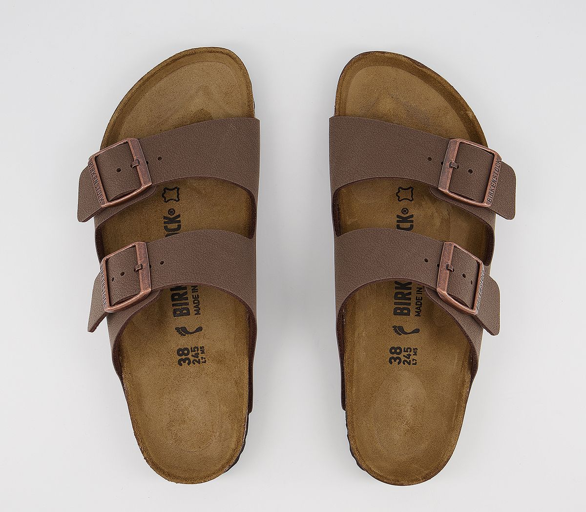 1cd10719a5fe Womens Birkenstock Arizona Two Strap Sandals Mocha Birko Flor ...