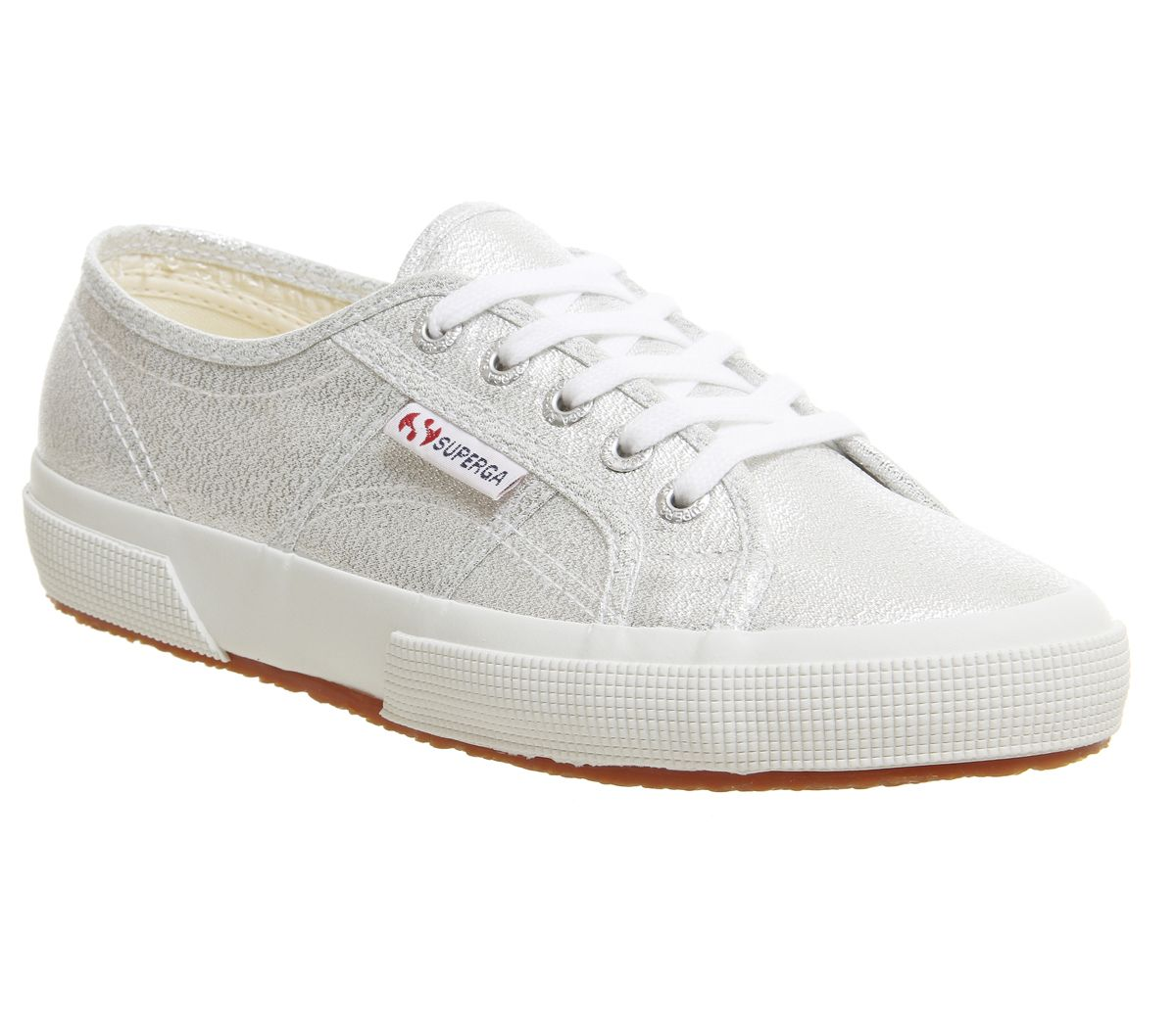 a080a1761e71b5 Sentinel Womens Superga 2750 Trainers Grey Silver Trainers Shoes