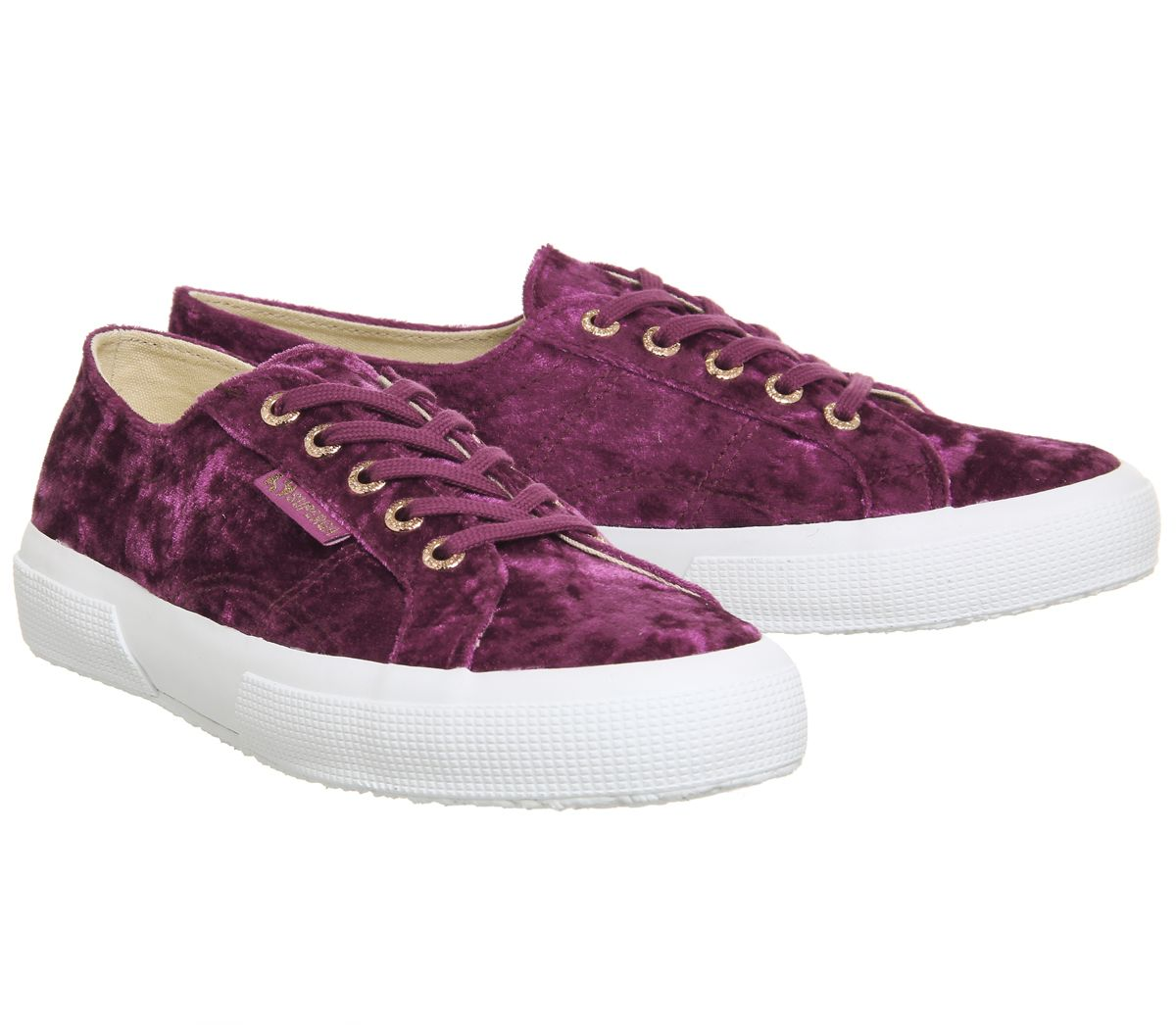 58cc49a3fea507 Womens Superga 2750 Trainers Pink Ash Rose Velvet Trainers Shoes | eBay