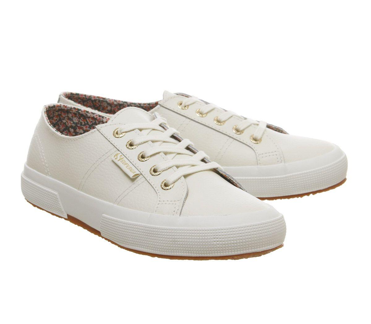migliori scarpe da ginnastica 8ac16 c291c Dettagli su Donna Superga 2750 Scarpe Sportive Nuova pelle Floreale  Esclusivo da Ginnastica