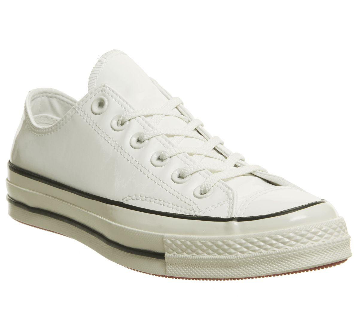 0f1aaf231bb71 Détails sur Chaussures Femme Converse All Star Ox années 70 Baskets Vintage  Noir Blanc Egret brevet train- afficher le titre d origine