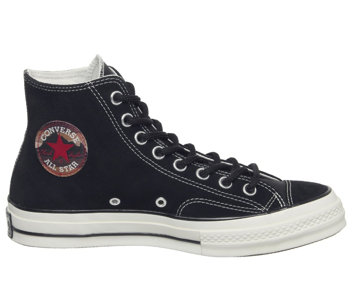 f9afdef3bf7 Mens Converse All Star Hi 70 S Trainers Black Egret Patch Trainers ...