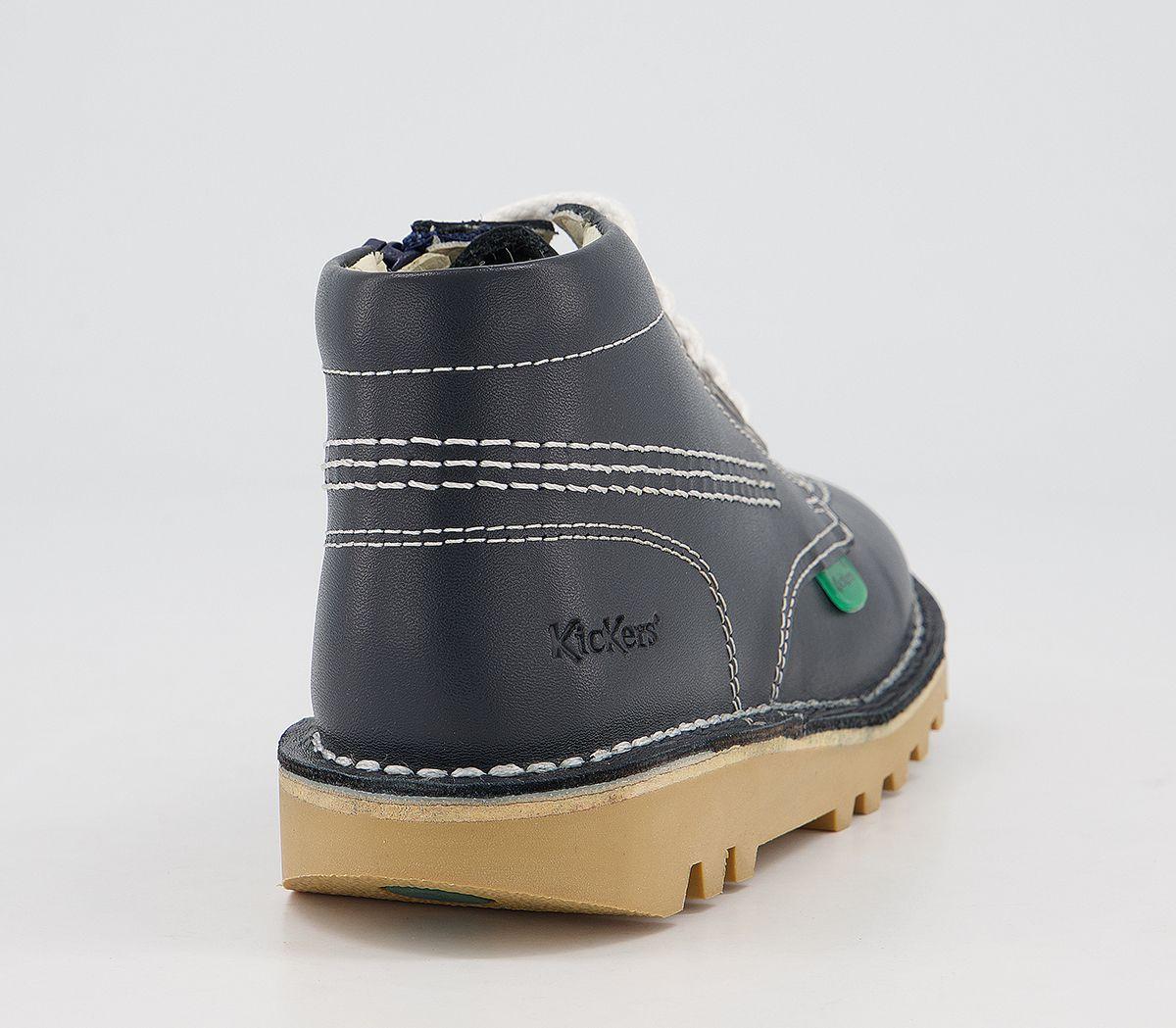 Détails sur Enfants Kickers Kickers Hi Enfant Chaussures Bleu Foncé Enfants