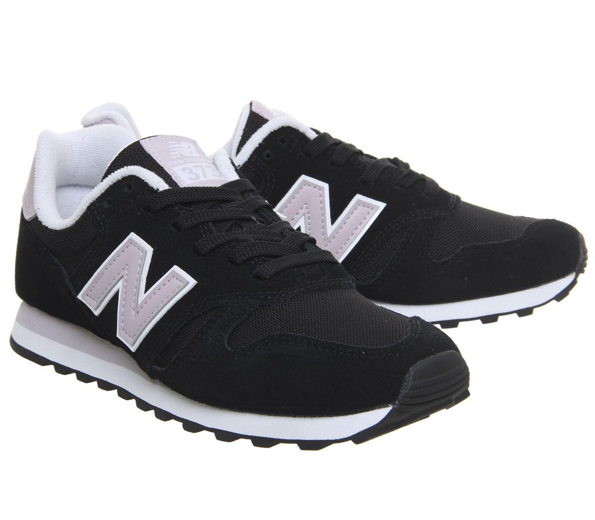 check-out cc2e4 c106e Details about Womens New Balance W373 Black Light Cashmere Trainers Shoes