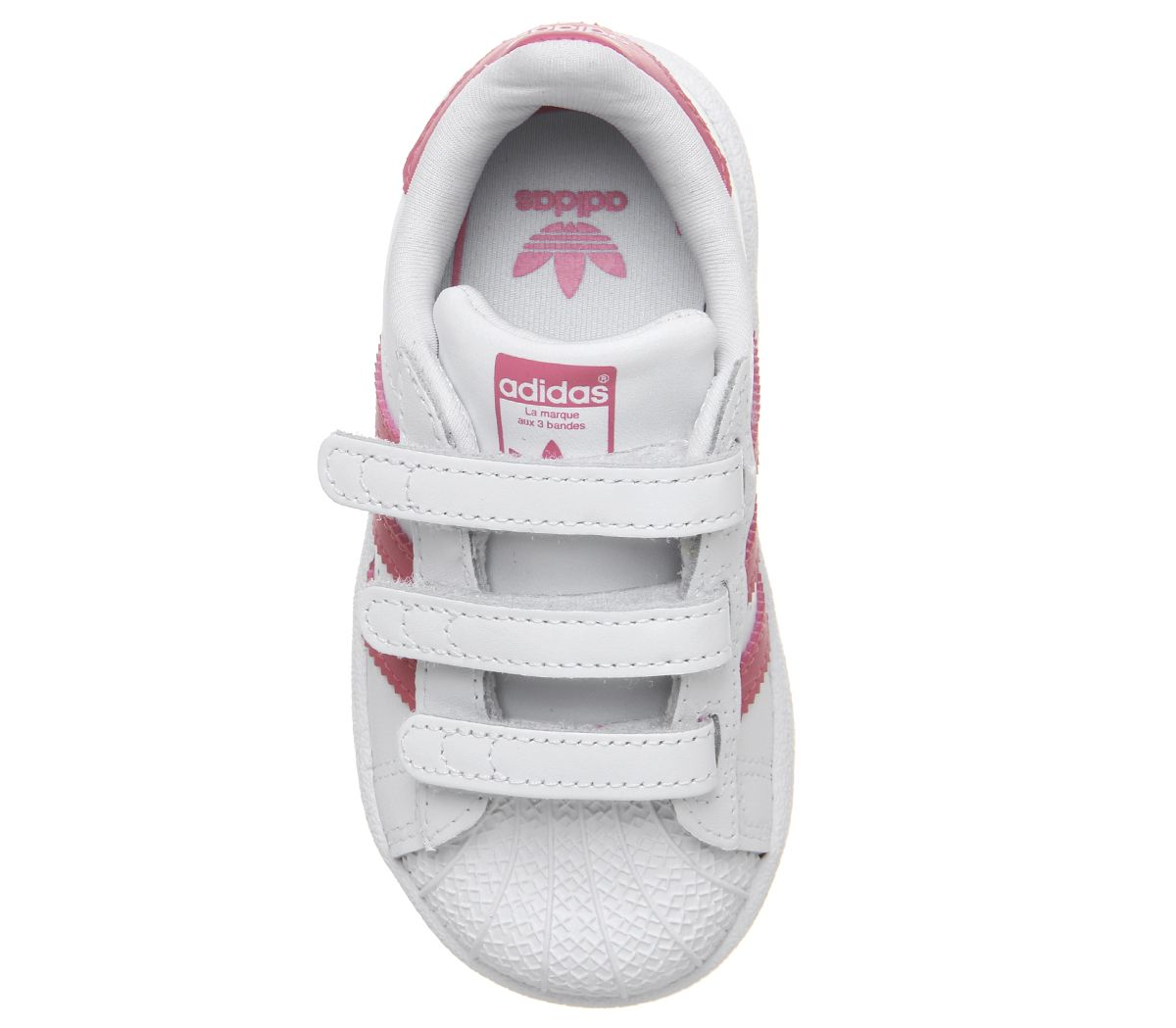 2ad9dc84b1 Kids Adidas Superstar Infant 2-9 Trainers White Clear Pink Kids | eBay