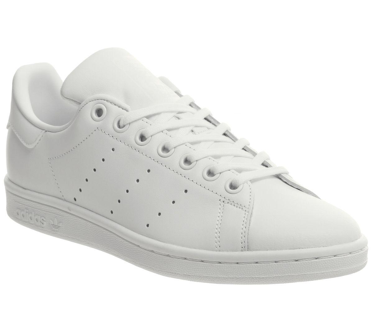 Details zu Kinder adidas Stan Smith GS Turnschuhe Weiß Mono Kinder