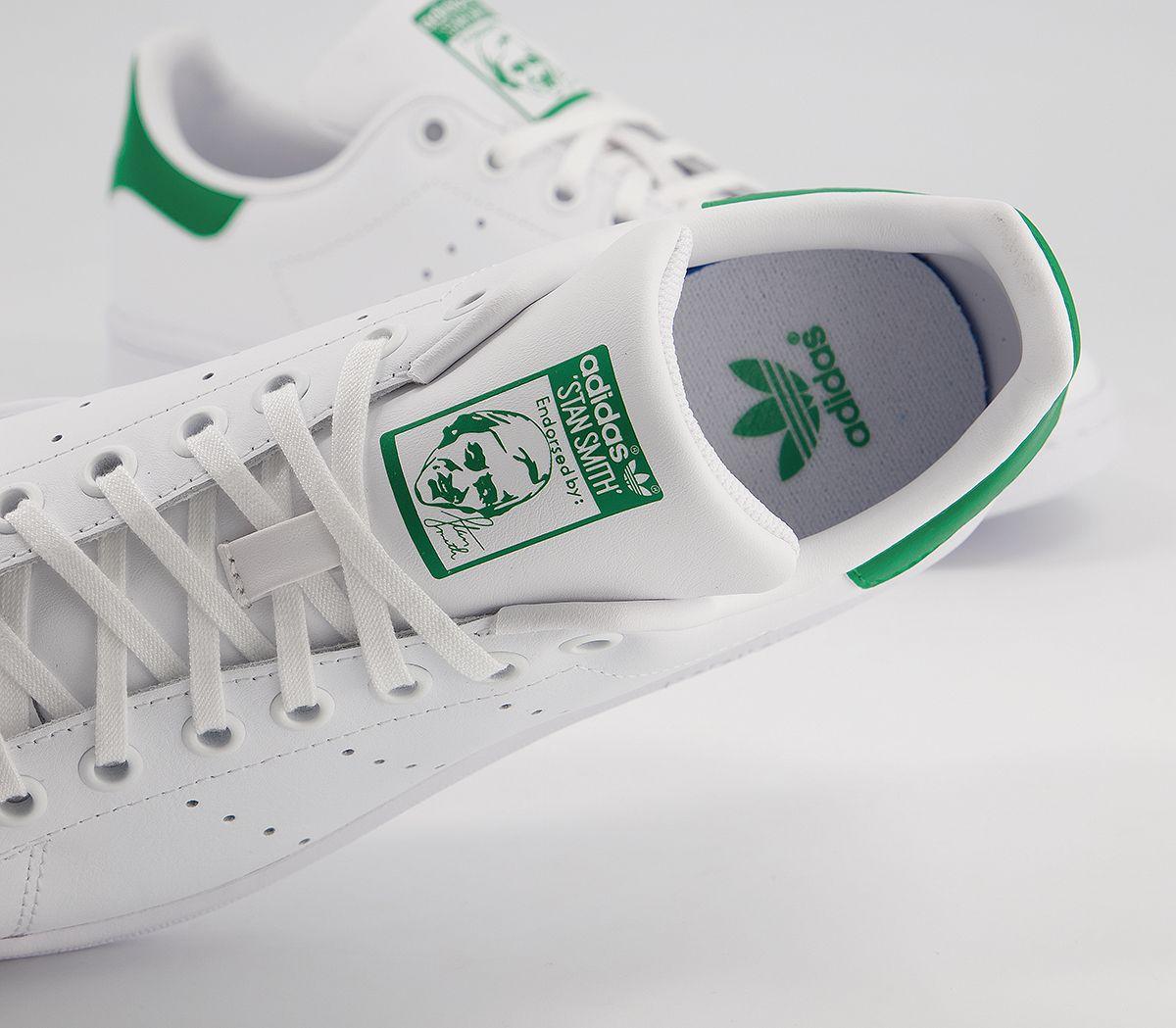 Dettagli su Bambini adidas Stan Smith Scarpe Sportive Core Bianco Verde Bambini