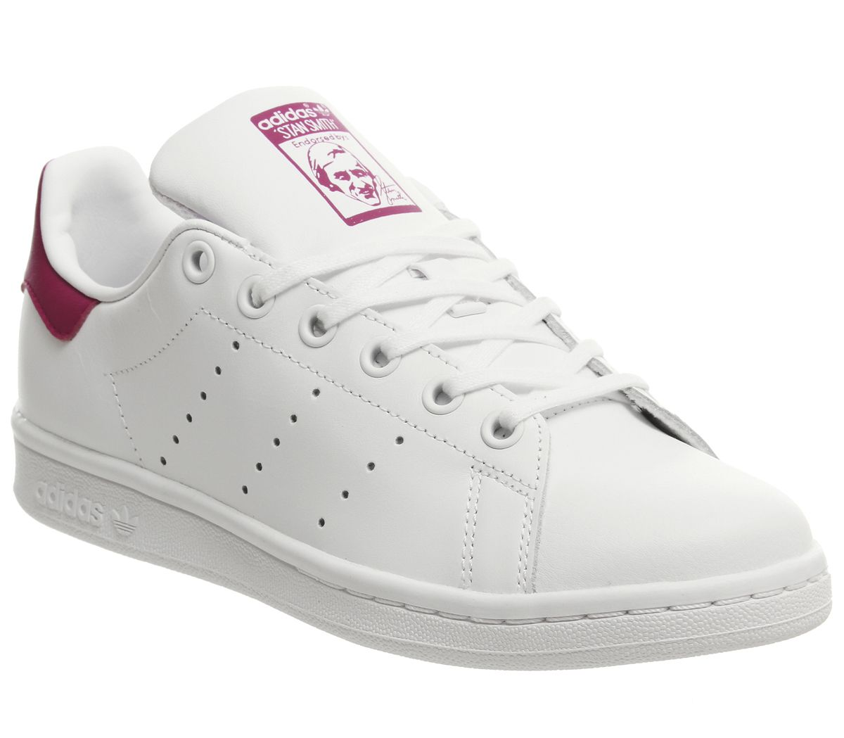 Détails sur Short Femme Adidas Stan Smith GS Baskets Blanc White Bold Rose  Baskets- afficher le titre d'origine