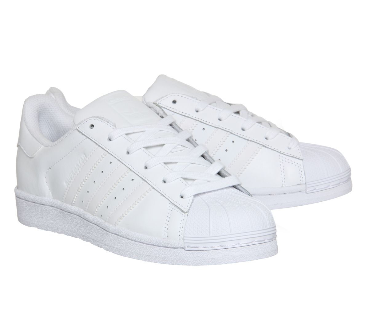 watch 59e68 90e25 Short-Femme-Adidas-Superstar-Baskets-Blanc-Mono-Foundation-