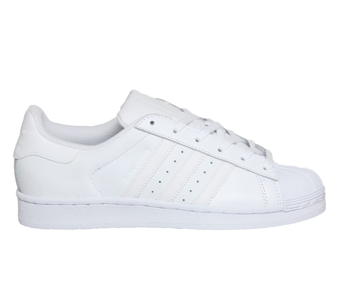 buy popular efa56 0e784 Sentinel Womens Adidas Superstar Trainers White Mono Foundation Trainers  Shoes