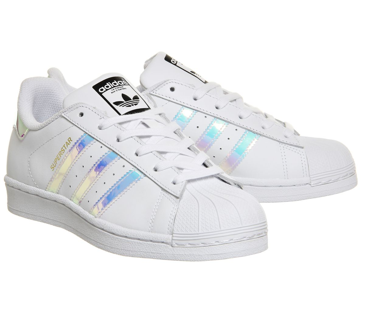 on sale fb793 9141e Donna-Adidas-Superstar-Bianco-Argento-Metallizzato miniatura 8