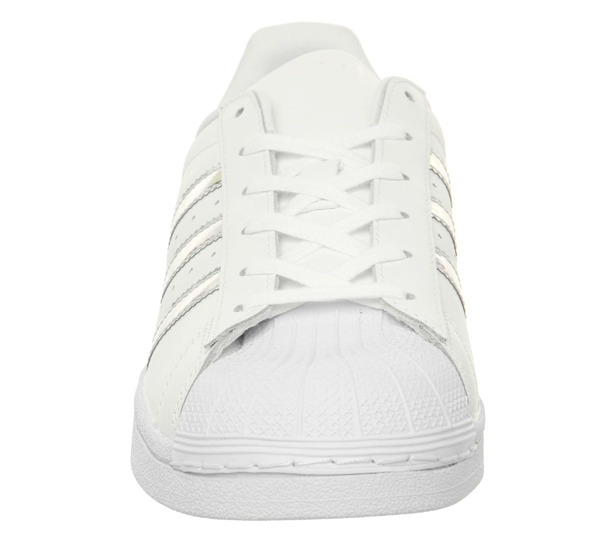 a8867704145 Sentinel Womens Adidas Superstar Gs Trainers White Silver Holographic  Trainers Shoes
