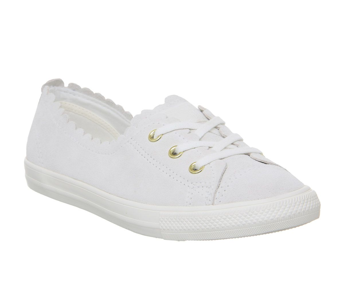 fc033806d096 Sentinel Womens Converse Ctas Ballet Lace Trainers Off White Frill Trainers  Shoes