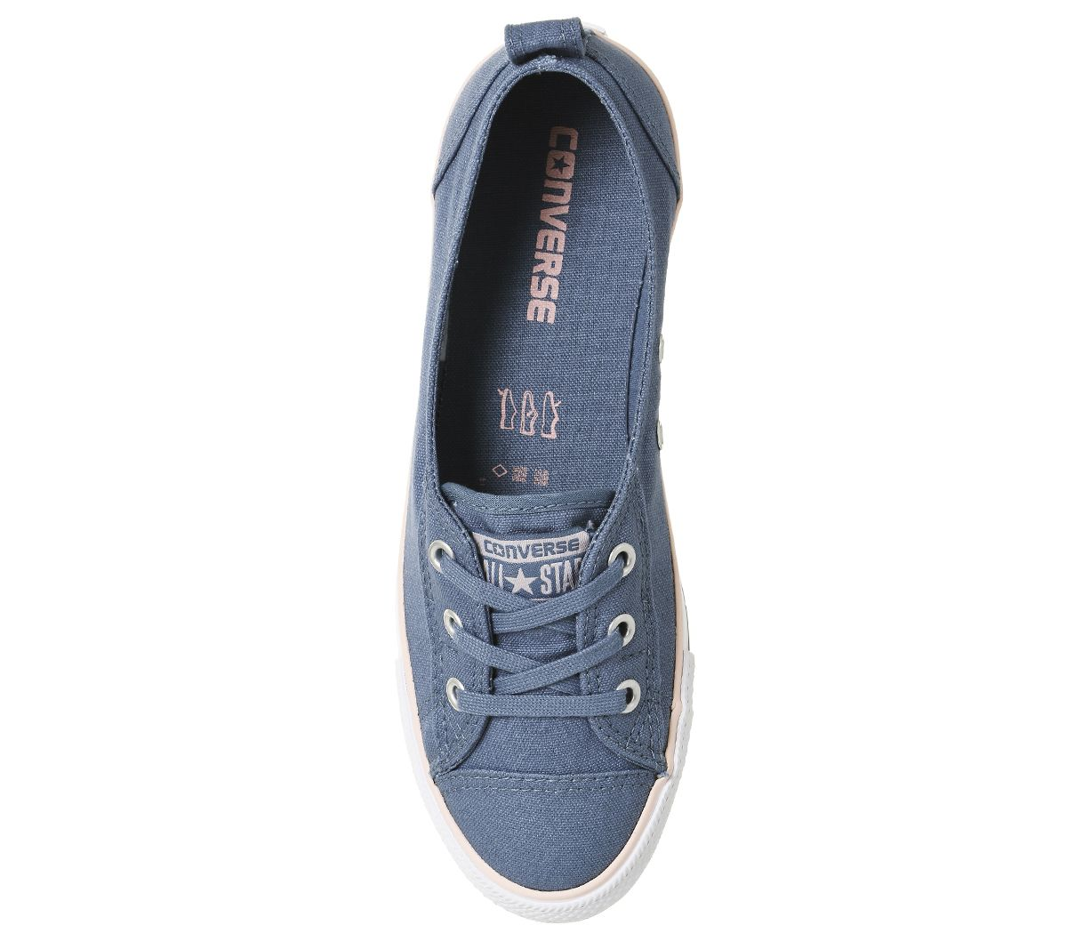 dab1fc33b3ce Womens Converse Ctas Ballet Lace Trainers Blue Pink Canvas Exlusive ...
