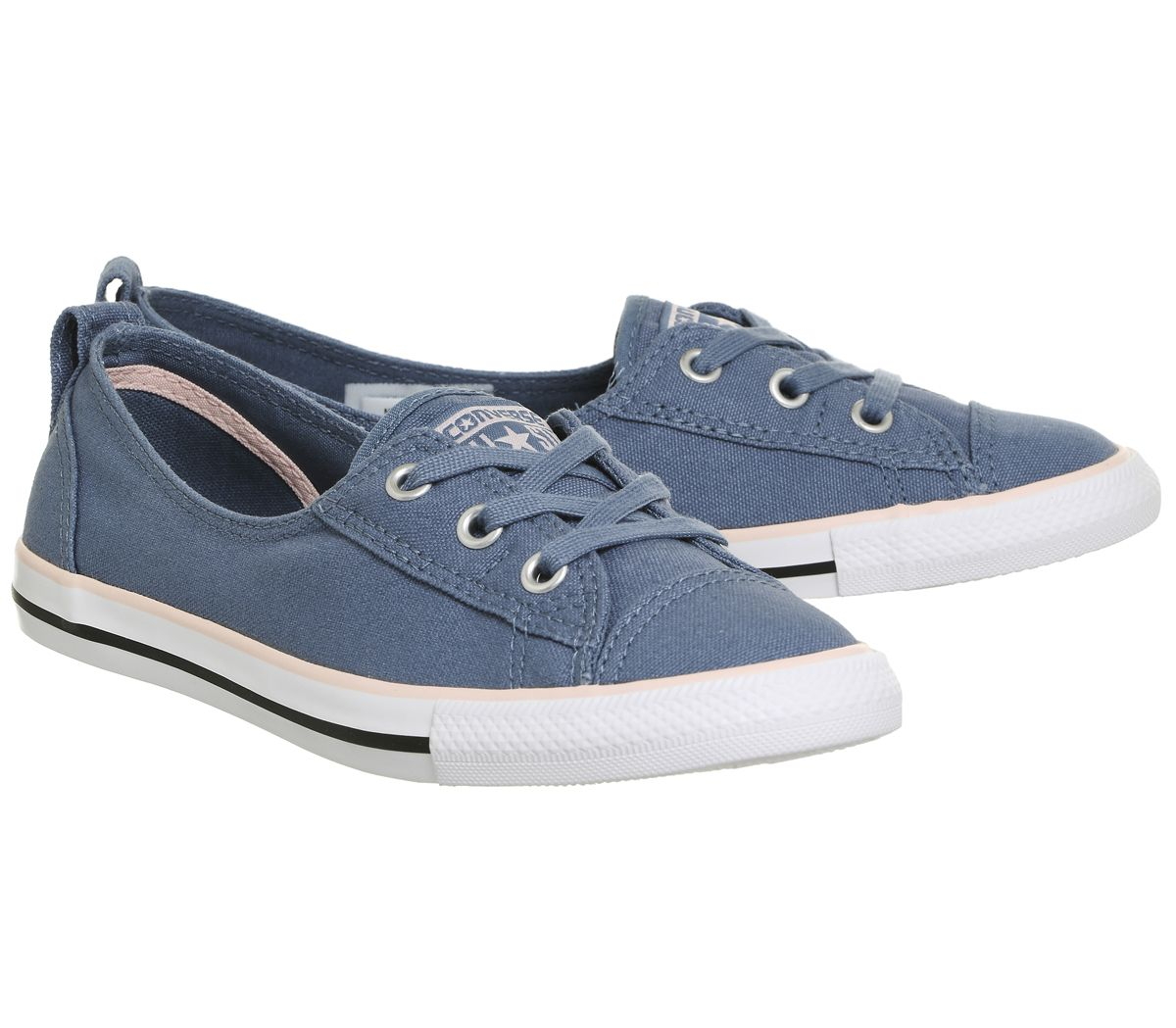 d5366135f700 Womens Converse Ctas Ballet Lace Trainers Blue Pink Canvas Exlusive ...