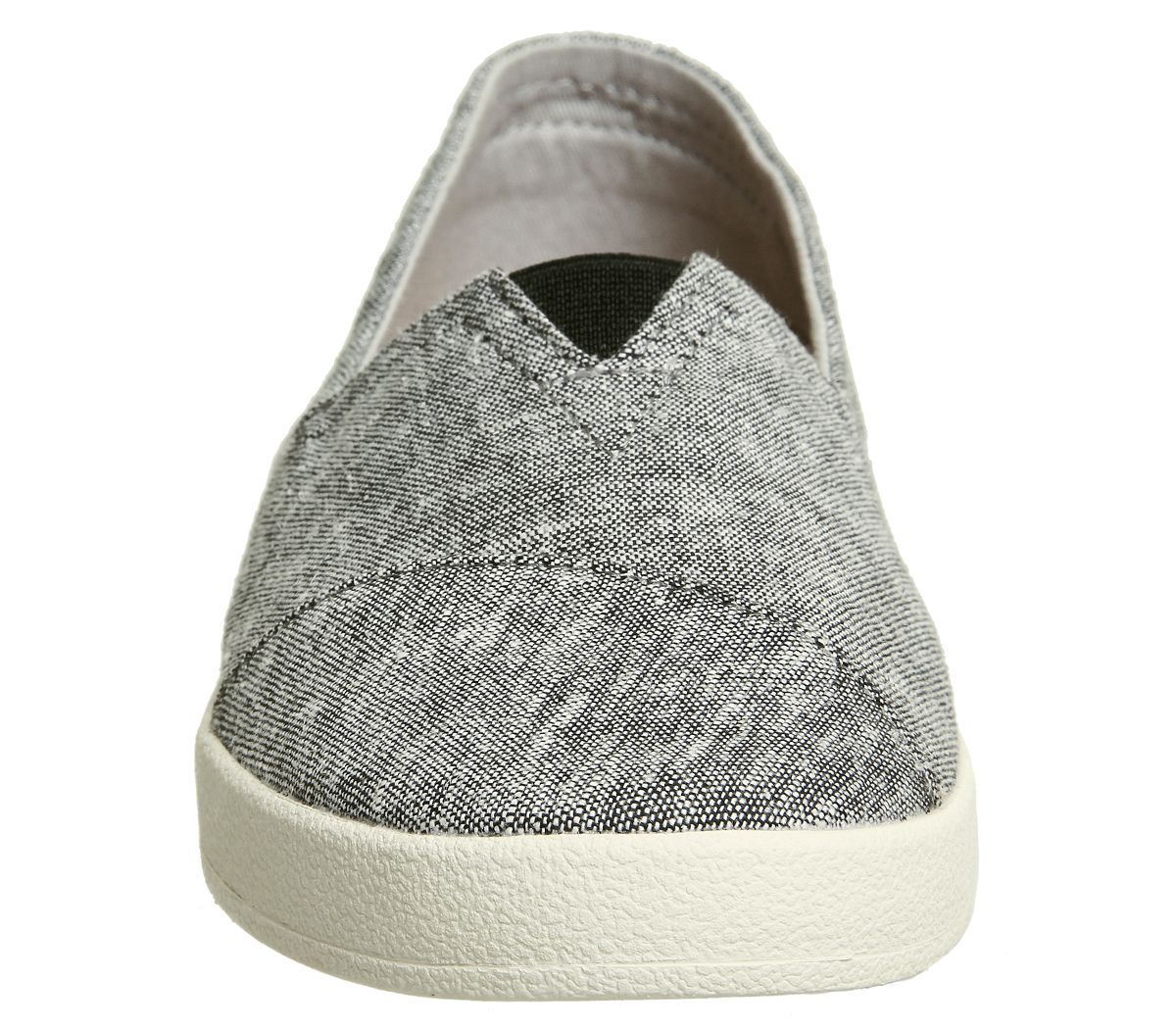 Womens-Toms-Avalon-Sneakers-Black-Slub-Chambray-Flats thumbnail 20