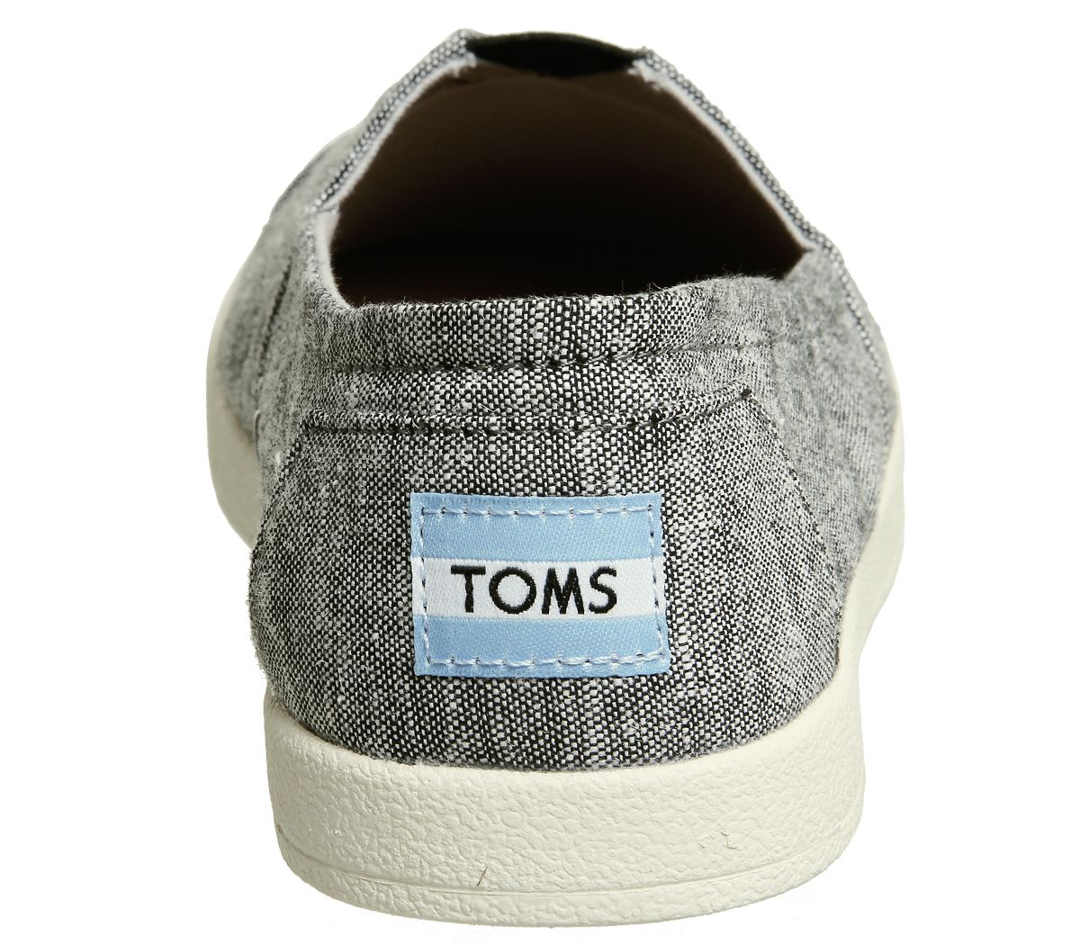 Womens-Toms-Avalon-Sneakers-Black-Slub-Chambray-Flats thumbnail 11