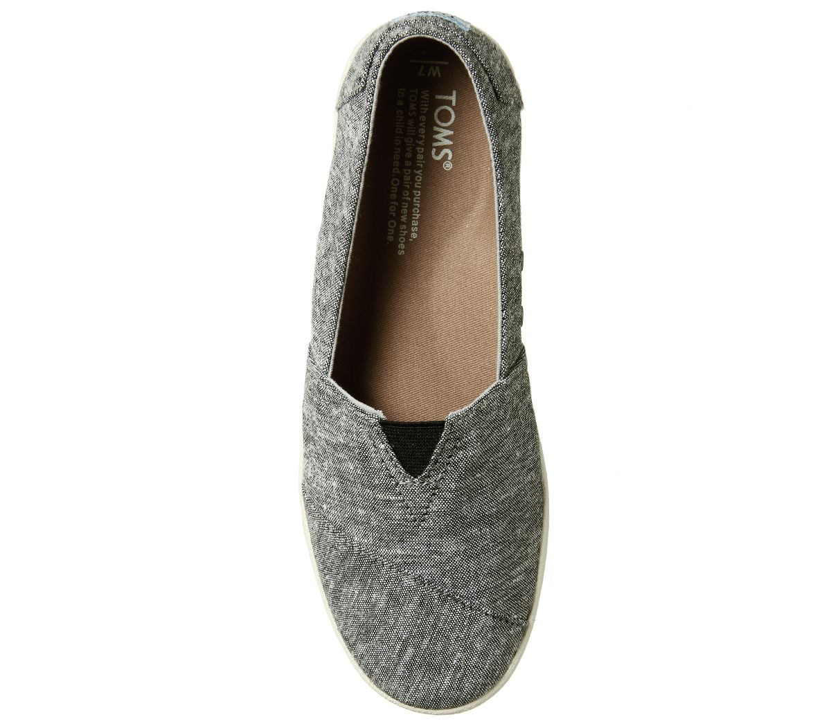 Womens-Toms-Avalon-Sneakers-Black-Slub-Chambray-Flats thumbnail 13