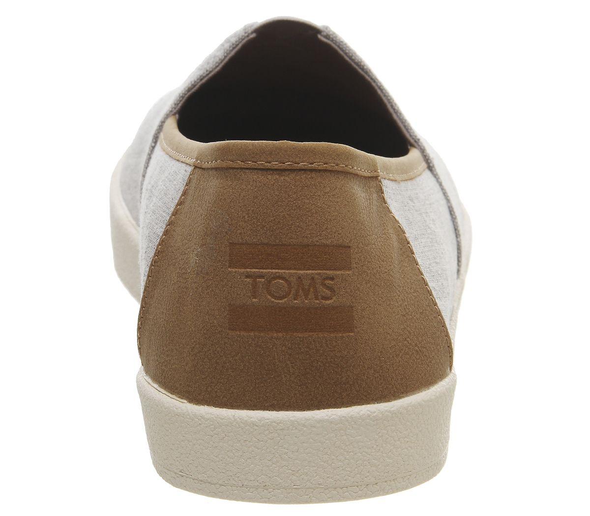 Para-Hombre-Toms-Avalon-Cupsole-Slip-Ons-llovizna-Gris-Chambray-Informal-Zapatos miniatura 4